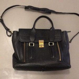 3.1 Phillip Lim Pashli medium satchel black lther